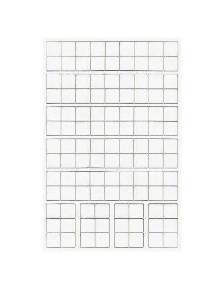 DICE: Translucent - Polyhedral Set Red With White (7)